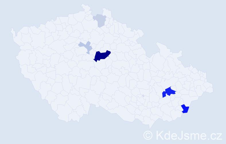 Příjmení: 'Jakubál', počet výskytů 18 v celé ČR