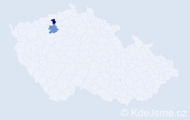 Příjmení: 'Haraus', počet výskytů 7 v celé ČR