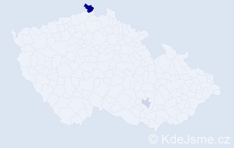 Příjmení: 'Gäblerová', počet výskytů 3 v celé ČR
