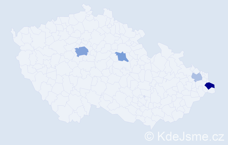 Příjmení: 'Gemza', počet výskytů 10 v celé ČR