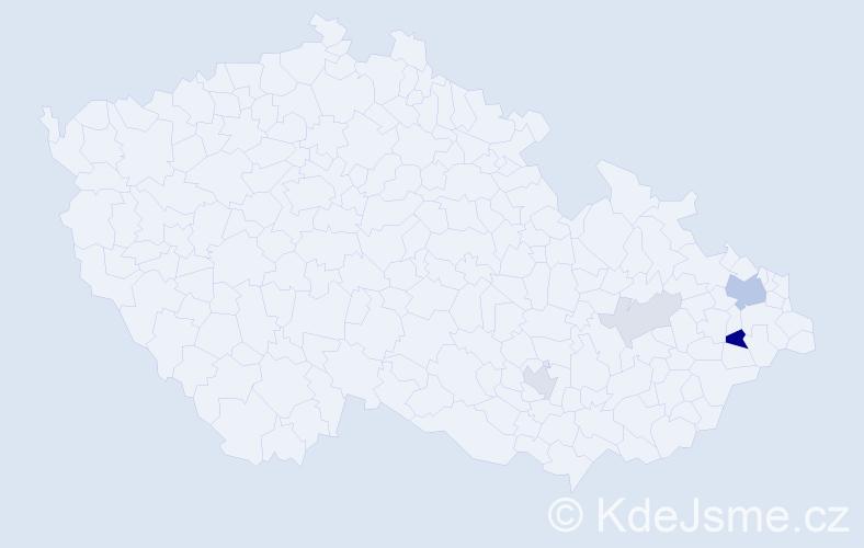 Příjmení: 'Jurochová', počet výskytů 12 v celé ČR