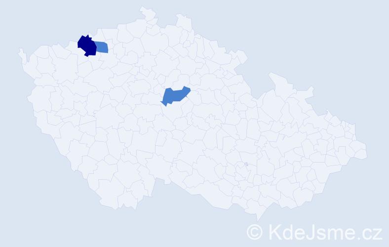 Příjmení: 'Labašková', počet výskytů 4 v celé ČR