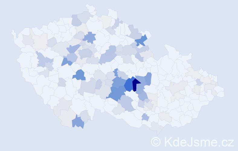Příjmení: 'Laštovičková', počet výskytů 415 v celé ČR