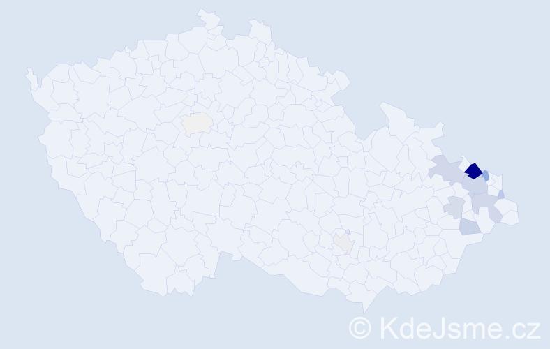 Příjmení: 'Čichoň', počet výskytů 30 v celé ČR