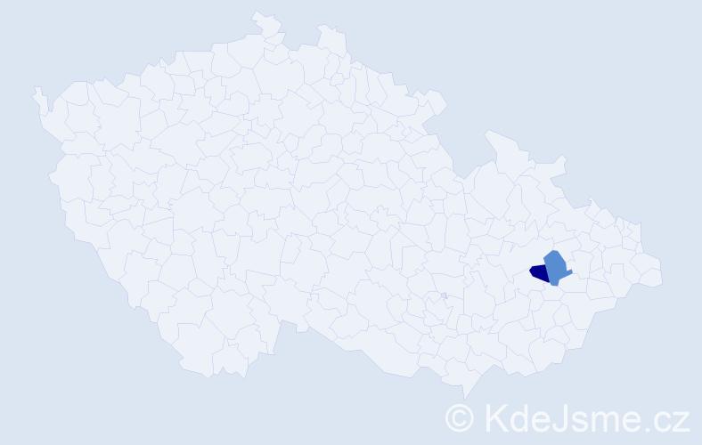 Příjmení: 'Ihraczki', počet výskytů 2 v celé ČR