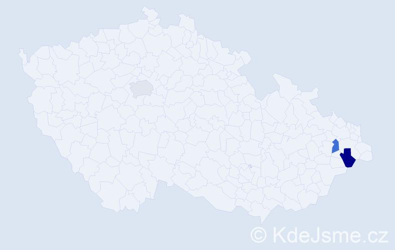 Příjmení: 'Gogolin', počet výskytů 3 v celé ČR
