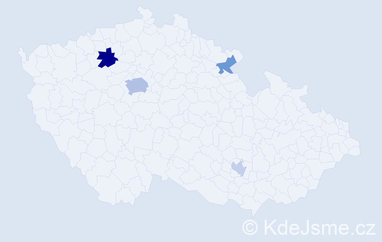 Příjmení: 'Kahula', počet výskytů 8 v celé ČR