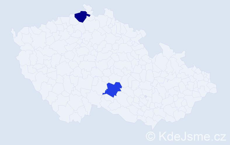 Příjmení: 'Itterheimová', počet výskytů 7 v celé ČR