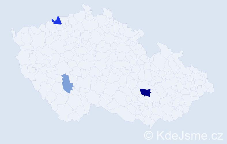 Příjmení: 'Geročová', počet výskytů 7 v celé ČR