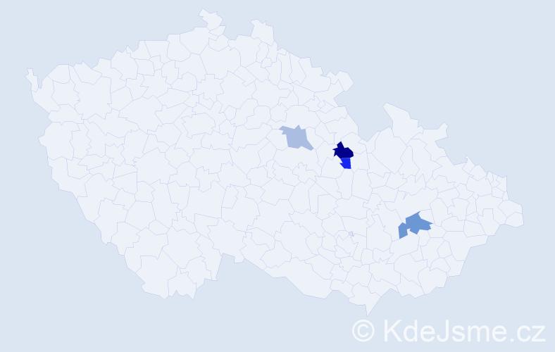 Příjmení: 'Lehnfeldová', počet výskytů 6 v celé ČR