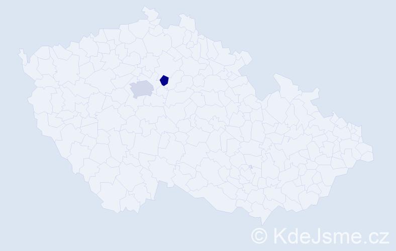 Příjmení: 'Fedina', počet výskytů 3 v celé ČR