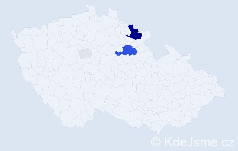 Příjmení: 'Likovský', počet výskytů 12 v celé ČR
