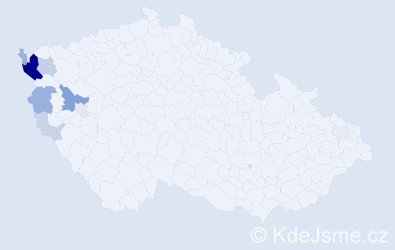Příjmení: 'Červenická', počet výskytů 28 v celé ČR