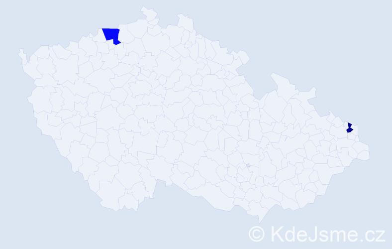 Příjmení: 'Kobylanská', počet výskytů 5 v celé ČR