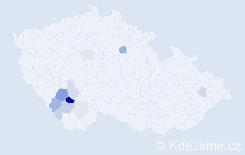 Příjmení: 'Kautmanová', počet výskytů 20 v celé ČR
