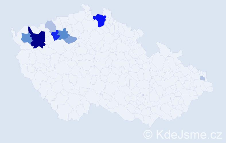 Příjmení: 'Horňaková', počet výskytů 26 v celé ČR