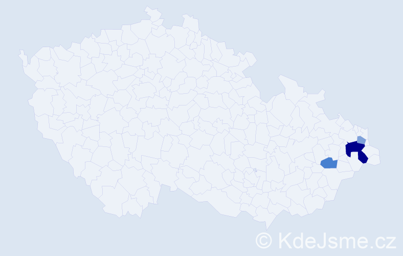 Příjmení: 'Čepčorová', počet výskytů 6 v celé ČR