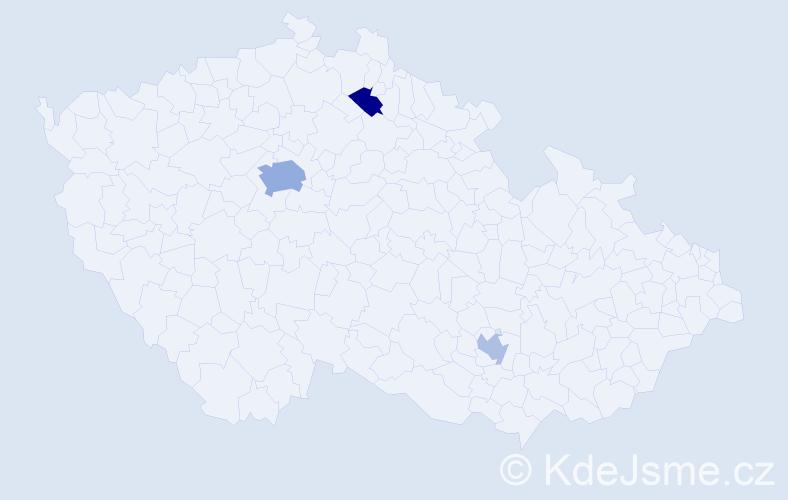 Příjmení: 'Bravo', počet výskytů 6 v celé ČR