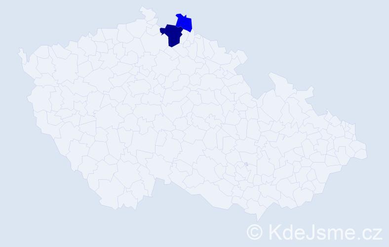 Příjmení: 'Gerbejová', počet výskytů 6 v celé ČR
