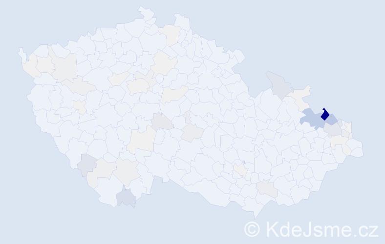 Příjmení: 'Harazim', počet výskytů 251 v celé ČR