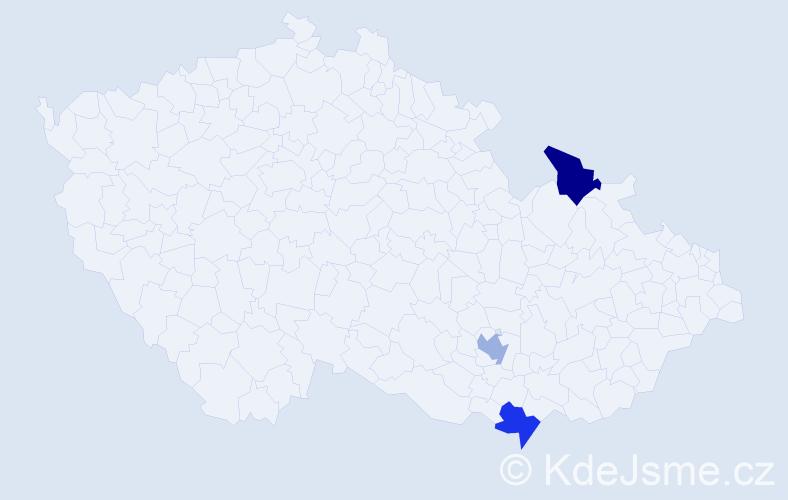 Příjmení: 'Efstathiou', počet výskytů 3 v celé ČR