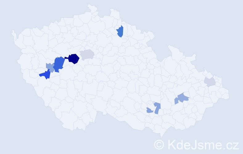 Příjmení: 'Lenický', počet výskytů 16 v celé ČR