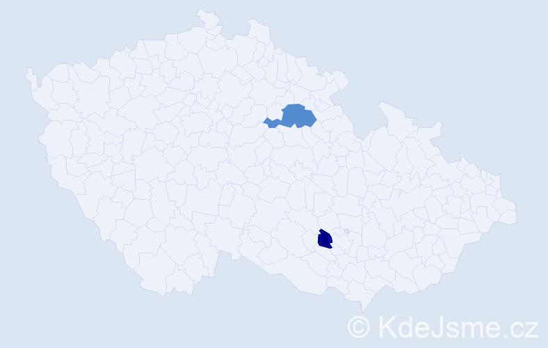 Příjmení: 'Ižolová', počet výskytů 6 v celé ČR