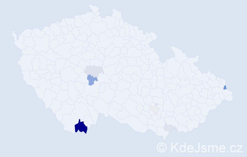 Příjmení: 'Grznárik', počet výskytů 16 v celé ČR