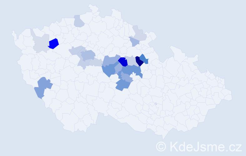 Příjmení: 'Bulánková', počet výskytů 71 v celé ČR