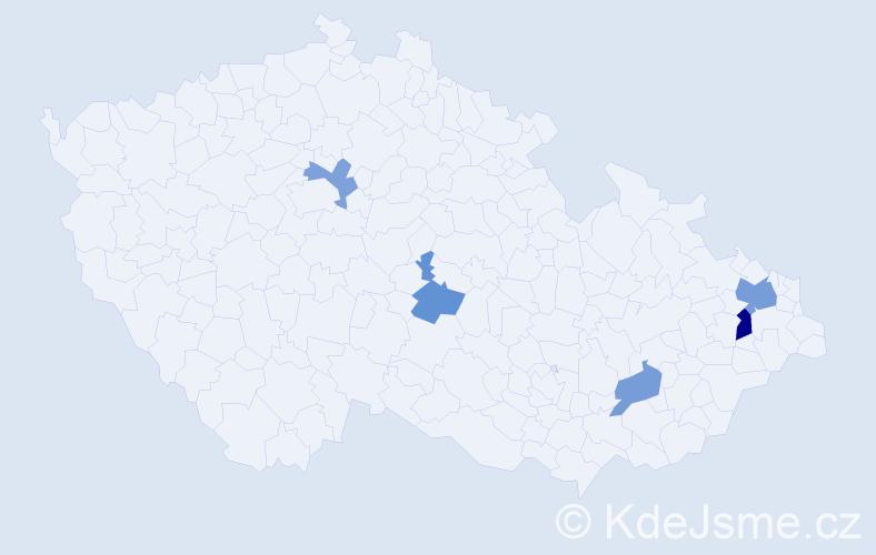 Příjmení: 'Lachendrová', počet výskytů 8 v celé ČR