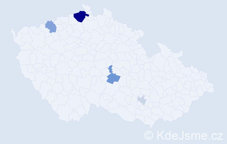 Příjmení: 'Gyurková', počet výskytů 7 v celé ČR