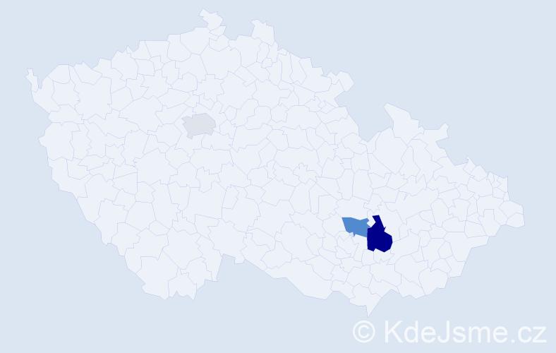 Příjmení: 'Ludrinský', počet výskytů 4 v celé ČR