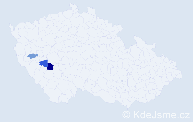 Příjmení: 'Čusová', počet výskytů 4 v celé ČR