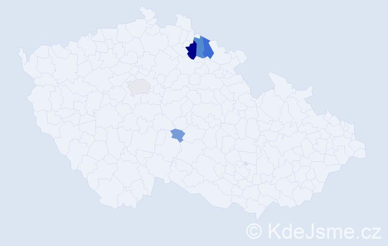 Příjmení: 'Kristan', počet výskytů 14 v celé ČR