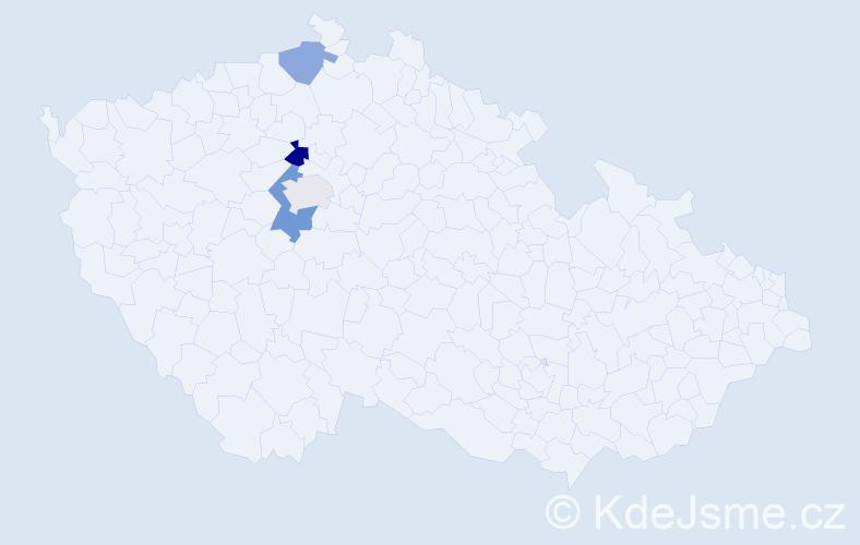 Příjmení: 'Framberková', počet výskytů 6 v celé ČR
