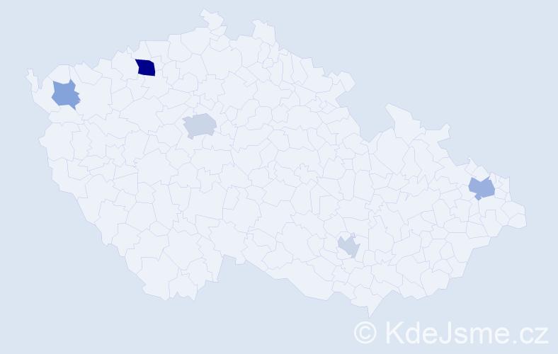 Příjmení: 'Haid', počet výskytů 11 v celé ČR