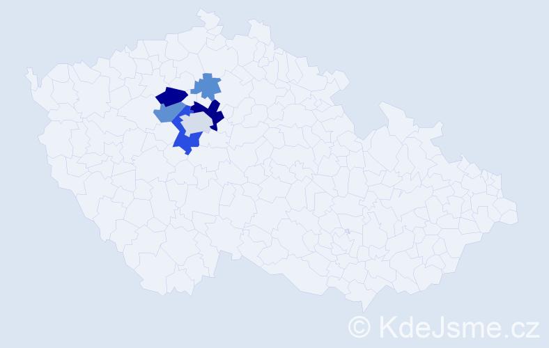 Příjmení: 'Janinda', počet výskytů 14 v celé ČR