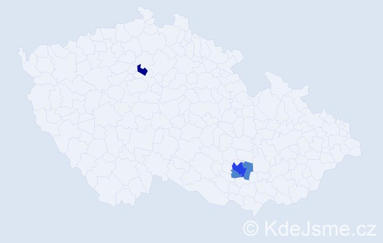 Příjmení: 'Koci', počet výskytů 7 v celé ČR