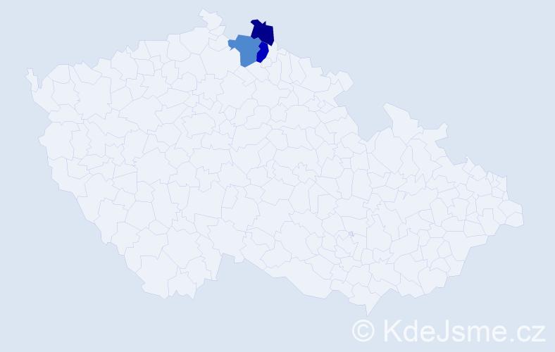 Příjmení: 'Fiklová', počet výskytů 5 v celé ČR