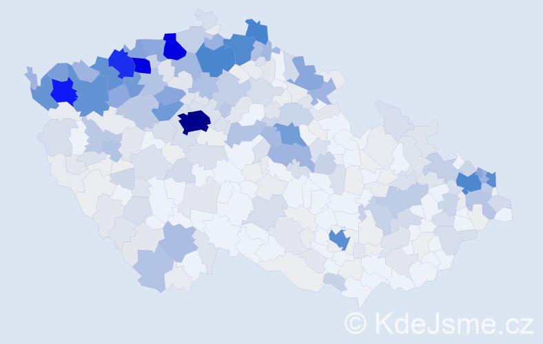 Příjmení: 'Balog', počet výskytů 2051 v celé ČR