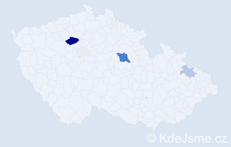 Příjmení: 'Gering', počet výskytů 11 v celé ČR