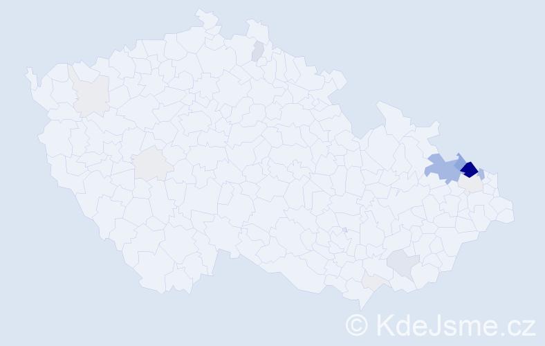 Příjmení: 'Fichna', počet výskytů 83 v celé ČR