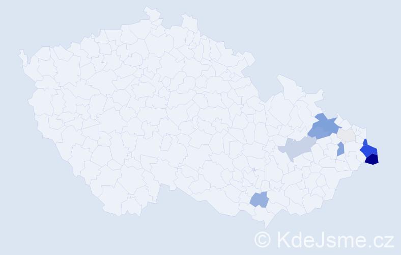 Příjmení: 'Jarnot', počet výskytů 40 v celé ČR