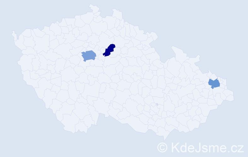 Příjmení: 'Čánová', počet výskytů 8 v celé ČR