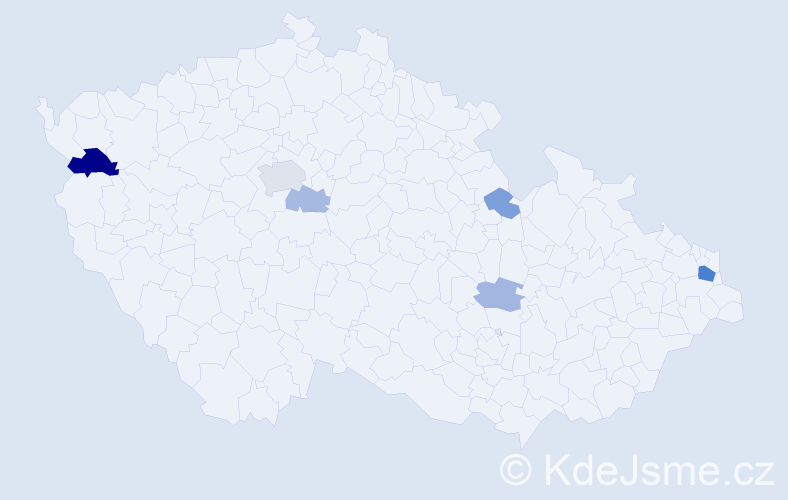 Příjmení: 'Jalčák', počet výskytů 14 v celé ČR