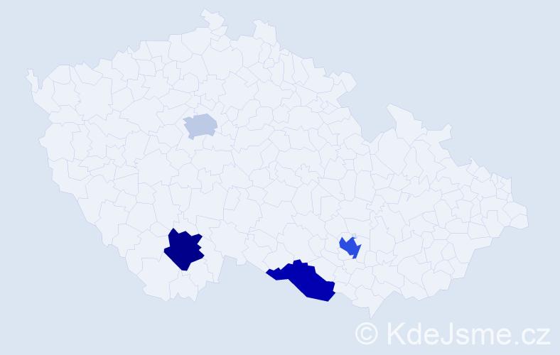 Příjmení: 'Kladenský', počet výskytů 11 v celé ČR