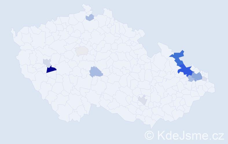 Příjmení: 'Láryš', počet výskytů 45 v celé ČR