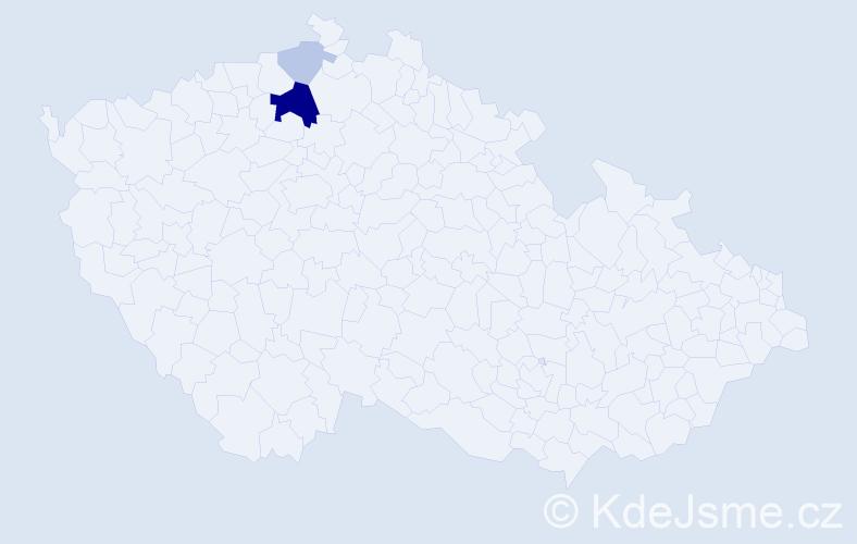 Příjmení: 'Krombholc', počet výskytů 8 v celé ČR
