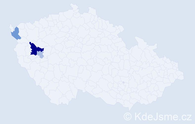 Příjmení: 'Burjasová', počet výskytů 5 v celé ČR