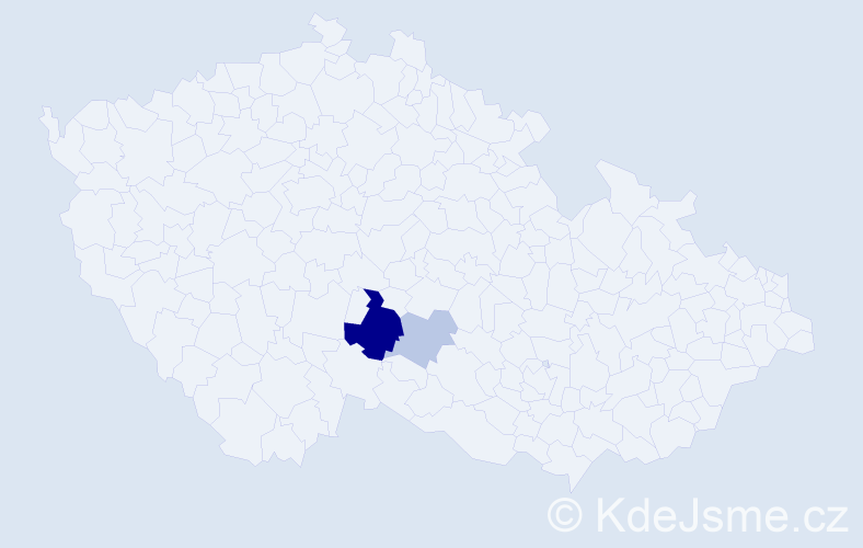 Příjmení: 'Isternitzová', počet výskytů 6 v celé ČR
